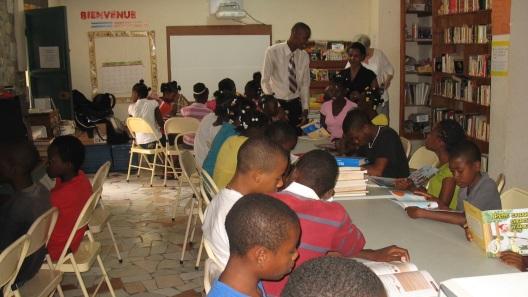 Cange, Haiti Library
